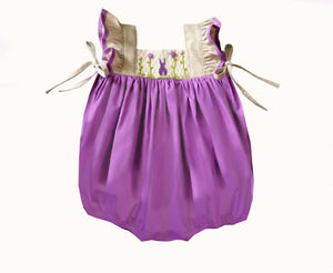 Lavender Bunny Pinafore Bubble