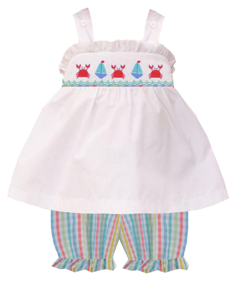 2020 Crab & Sailboat Girl Bloomer/Short Set