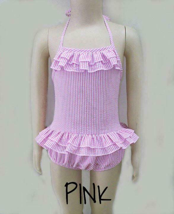 Pink Double Ruffle 1 Piece