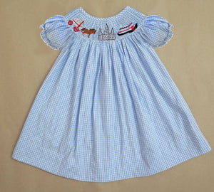 Gingham New Orleans Steamboat Bishop Dress