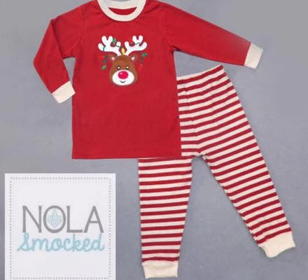 Red Rudolph Pajamas