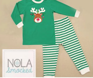 Green Rudolph Pajamas