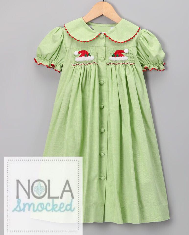 Green Santa Hat Dress