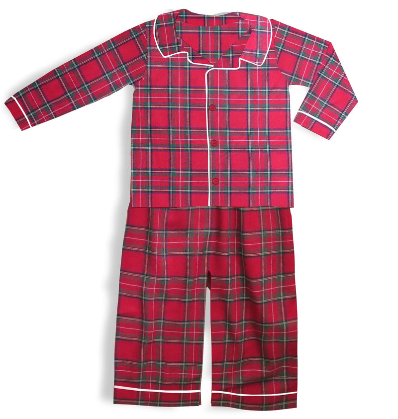 Boys Christmas Plaid Pajamas