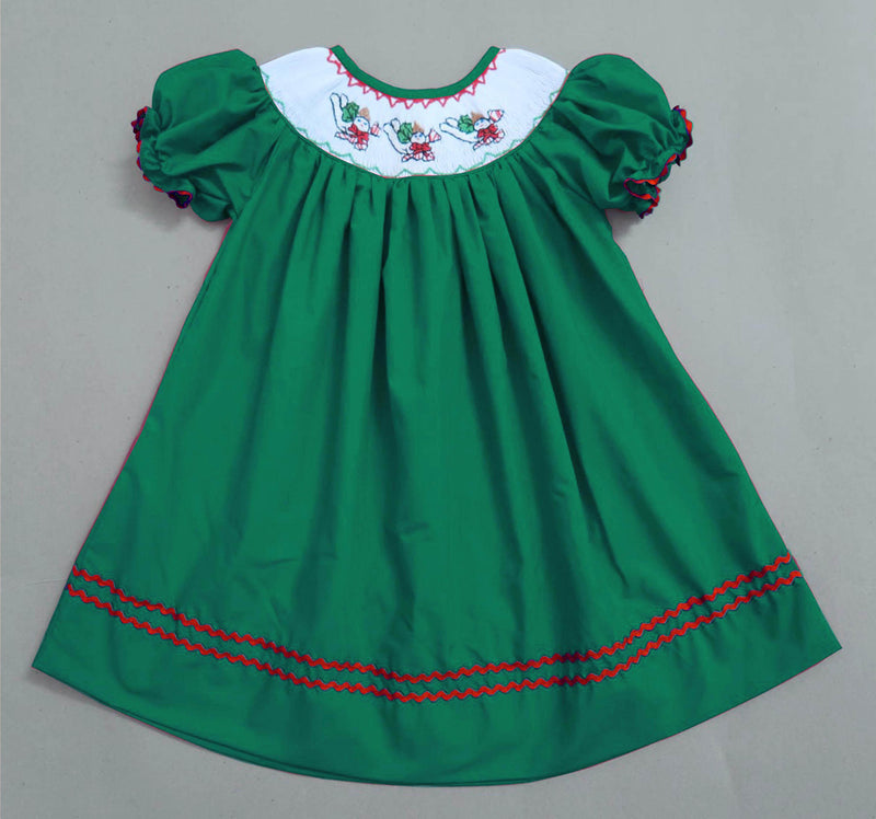 Emerald Mr. Bingle Inspired Bishop Dress