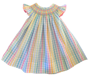2020 Rainbow Gingham Bishop Dress