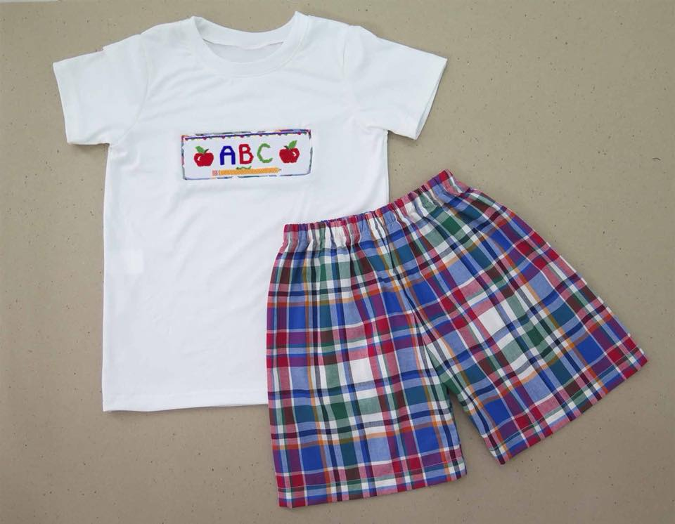 ABC Back to School Boy Short Set