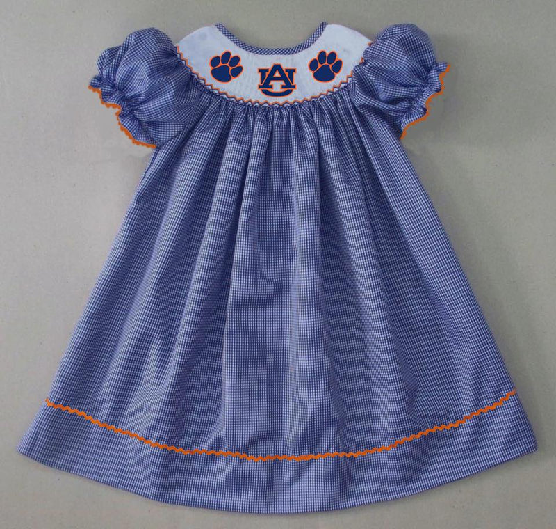 Blue Gingham AU Bishop Dress