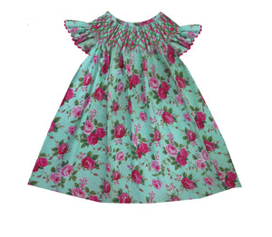 Light Rose Bush Bishop Dress