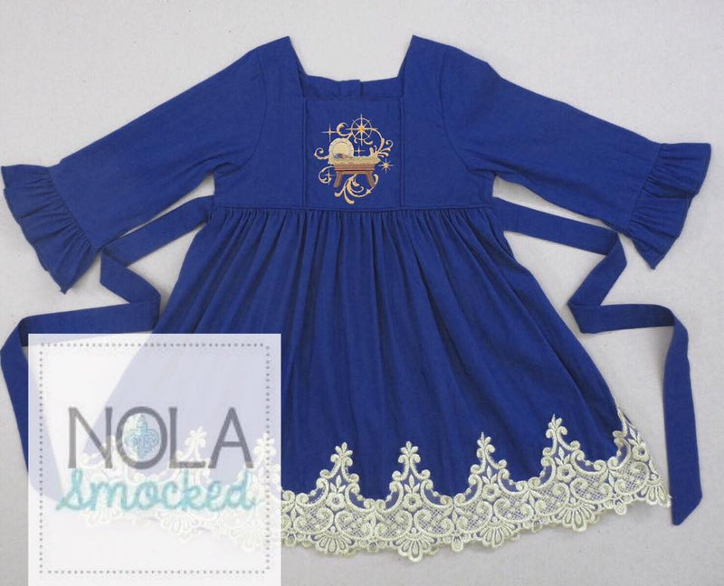 Navy Baby Jesus Dress