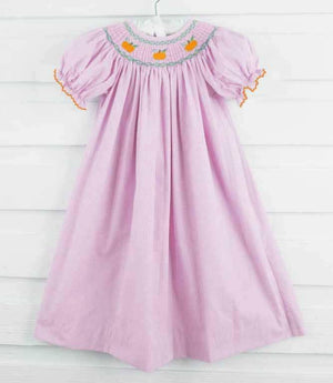 Pink Gingham Pumpkin Bishop Dress