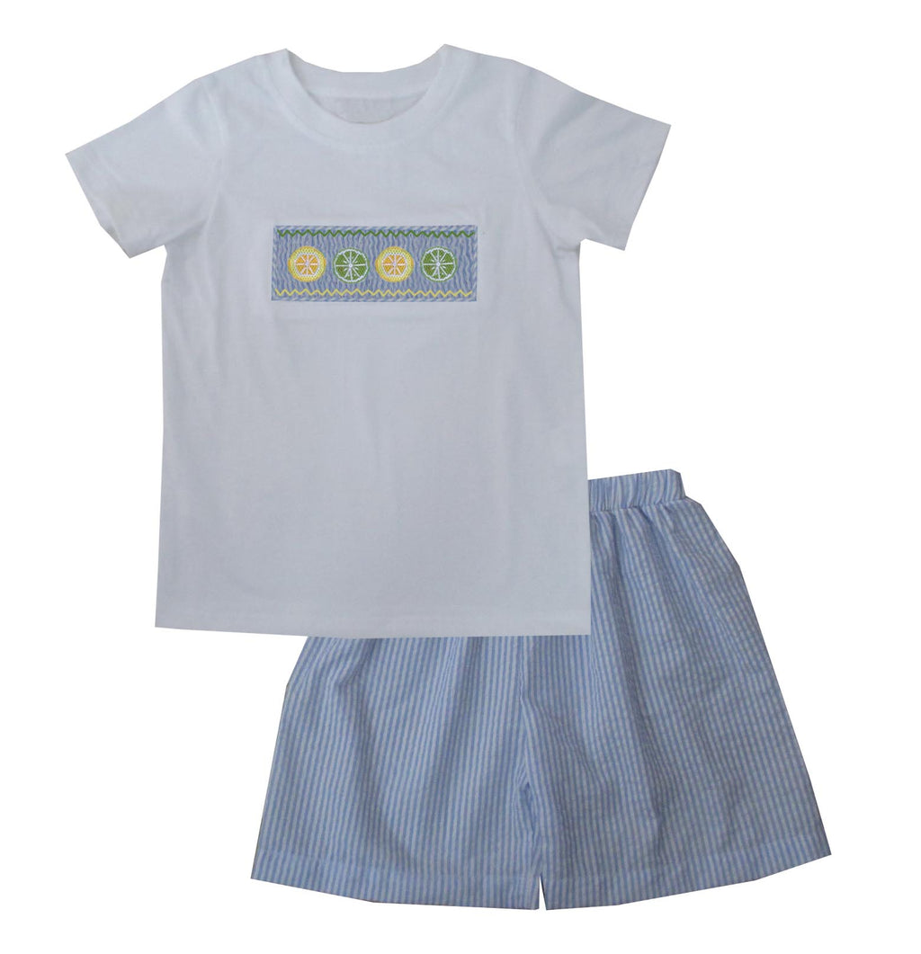 Lemon Lime Boys Short Set