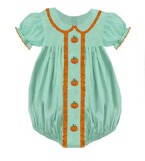 Mint Front Ruffle Pumpkin Bubble