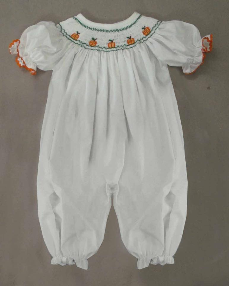 White Tiny Pumpkin Romper