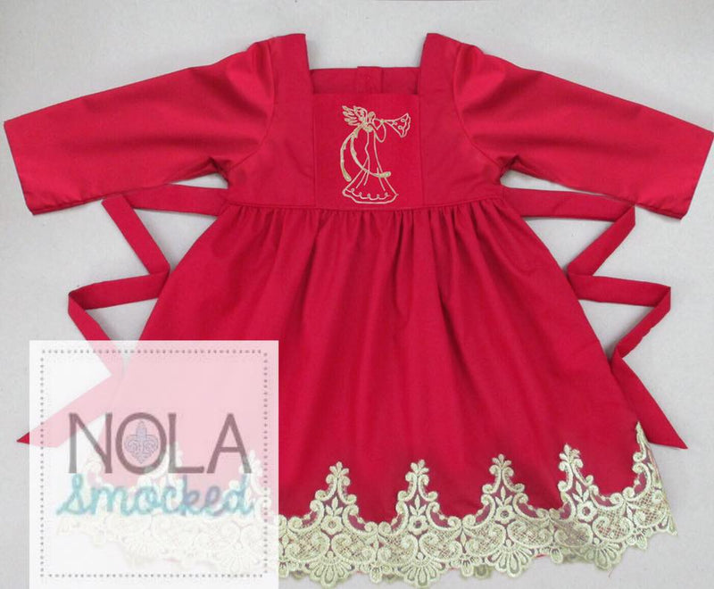 Red Angel Pinafore Dress