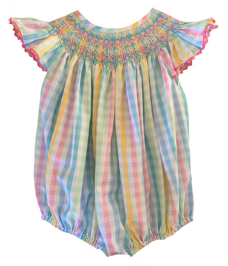 2020 Rainbow Gingham Bubble