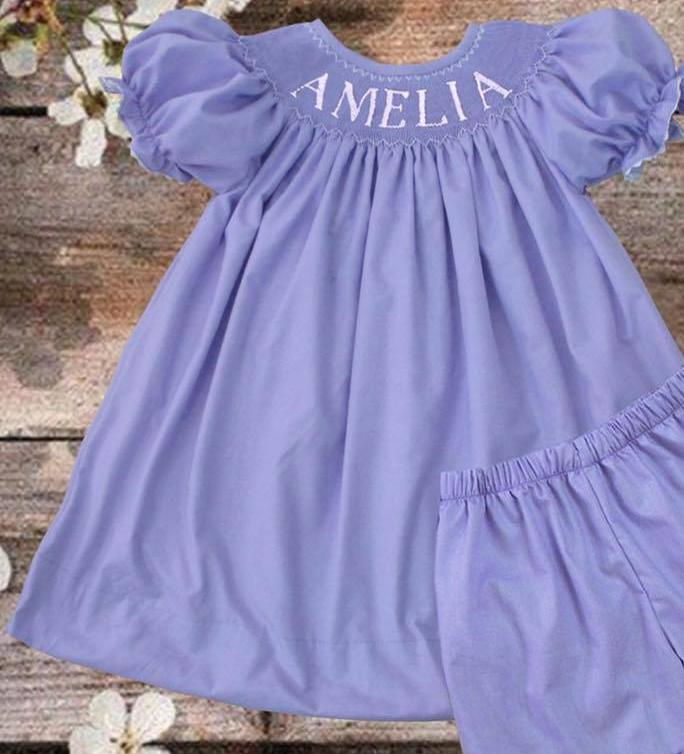 Personalized Lavender Bishop Dress