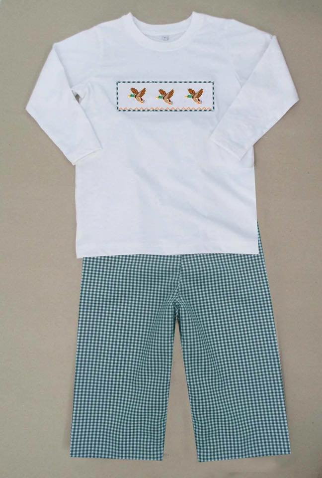 Flying Mallard Boys Pants Set