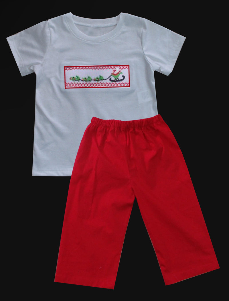 Cajun Santa Sleigh Boys Pants Set