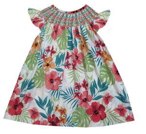 Tropical Floral Bishop Dress