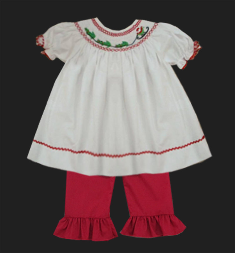 Cajun Santa Girls Pants Set