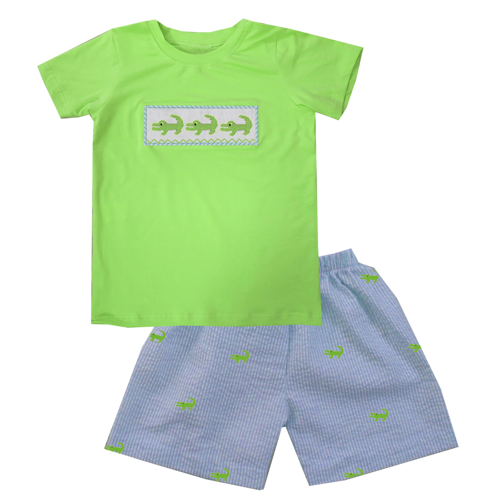 Gator Boy Short Set