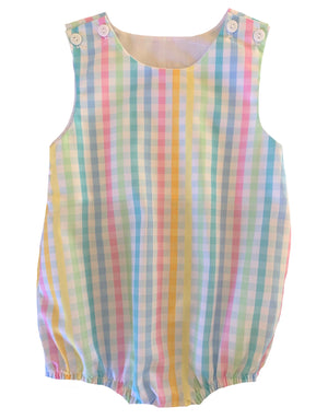 2020 Rainbow Gingham Boy Bubble