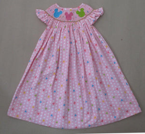 Pink Dot Minnie Mouse Bishop Dress