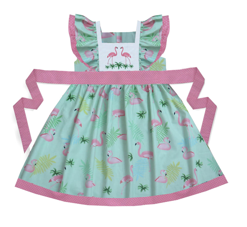 Flamingo Pinafore Dress