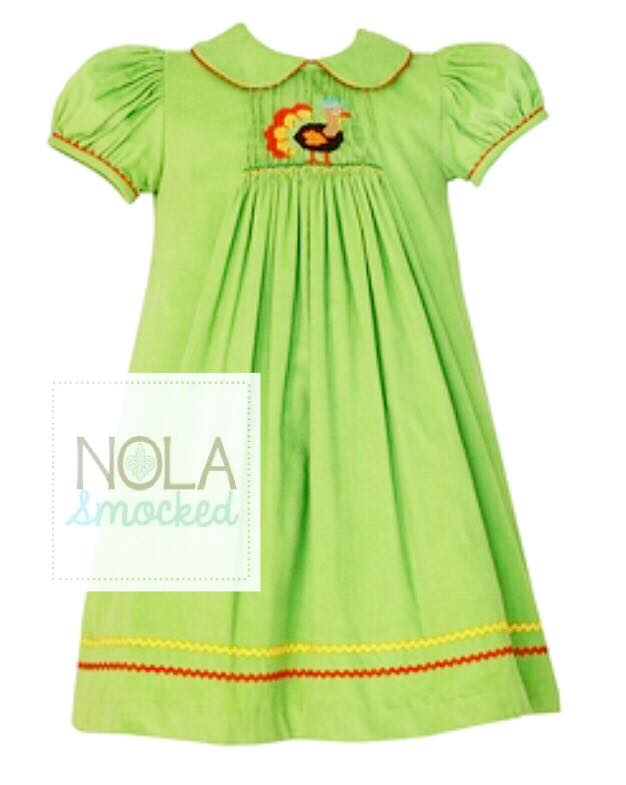 Lime Turkey A-Line Dress