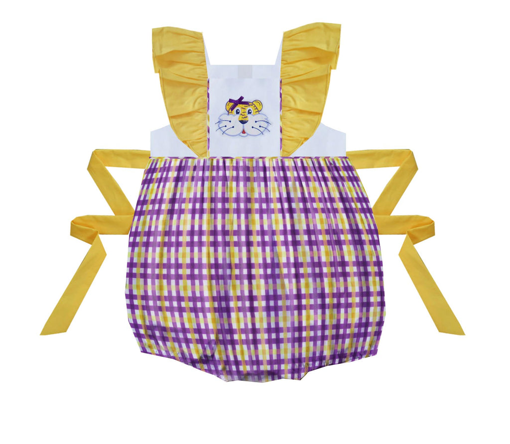 2020 LSU Tiger Gingham Bubble