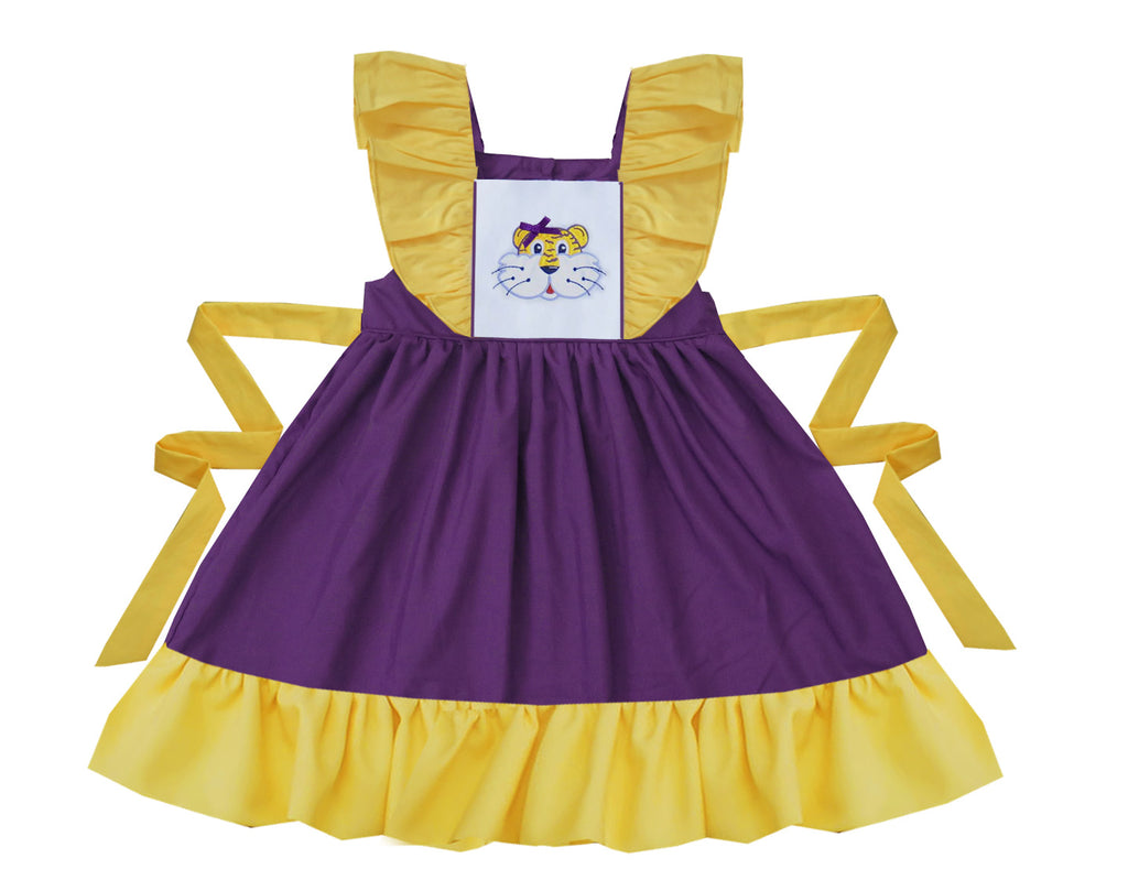 2020 LSU Tiger Purple Pinafore Dress