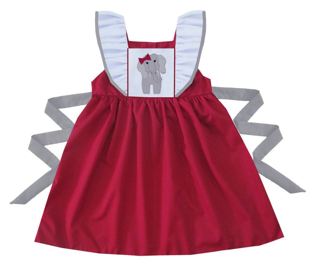 2020 Alabama Elephant Pinafore Dress