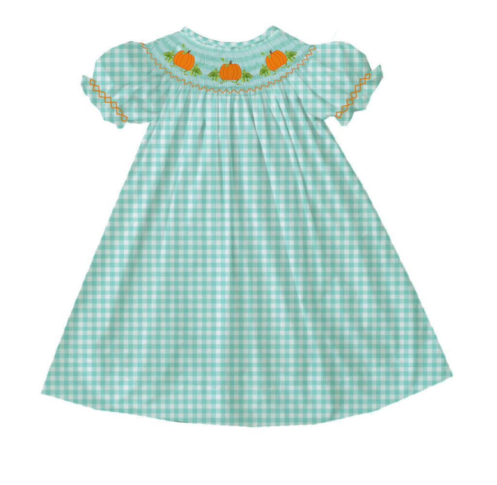 2020 Mint Pumpkin Bishop Dress