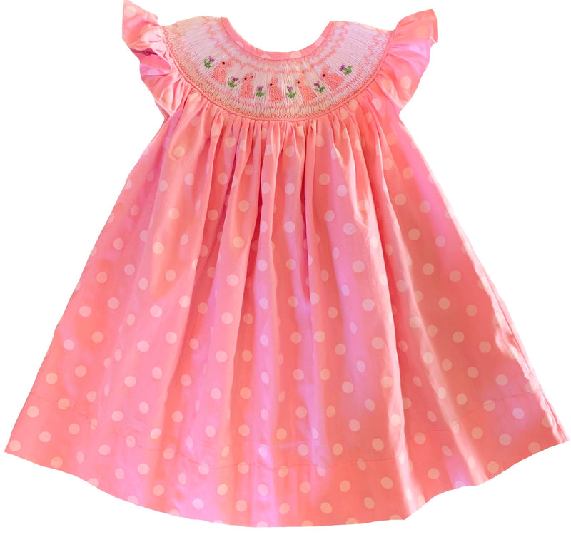 2020 Easter Polka Dot Bunny Bishop Dress