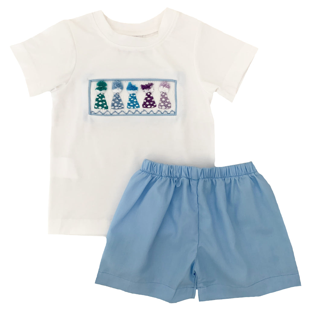 2020 Birthday Hat Boy Tshirt Short Set