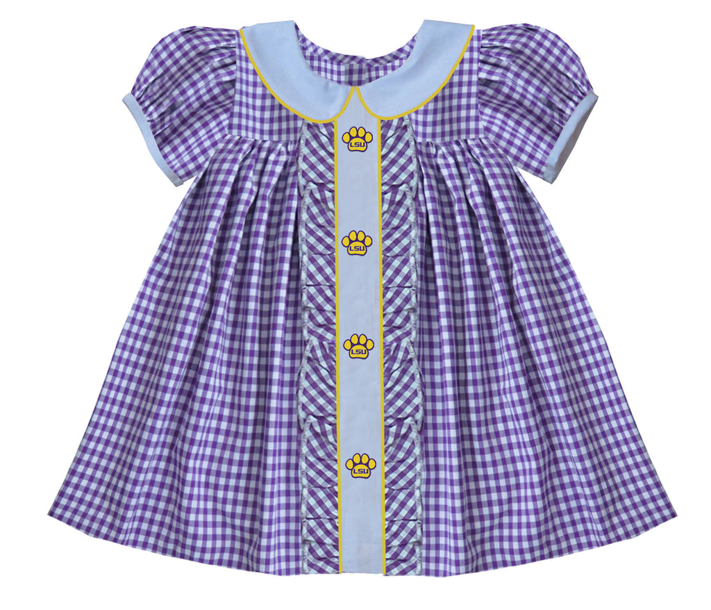 2019 LSU Ruffle Dress