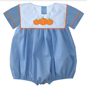 2019 Blue Bib Pumpkin Boy Bubble