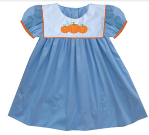 2019 Blue Bib Pumpkin Dress