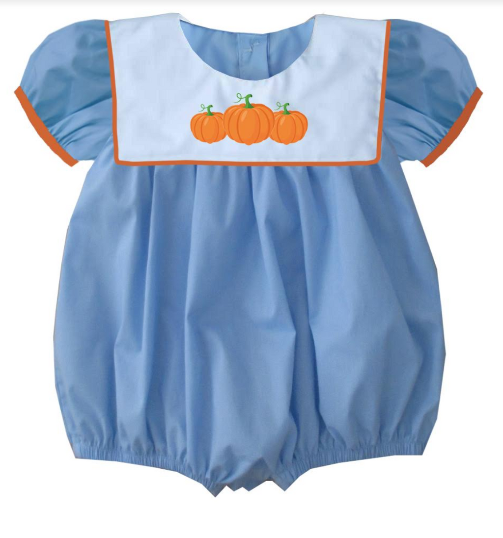 2019 Blue Bib Pumpkin Girl Bubble