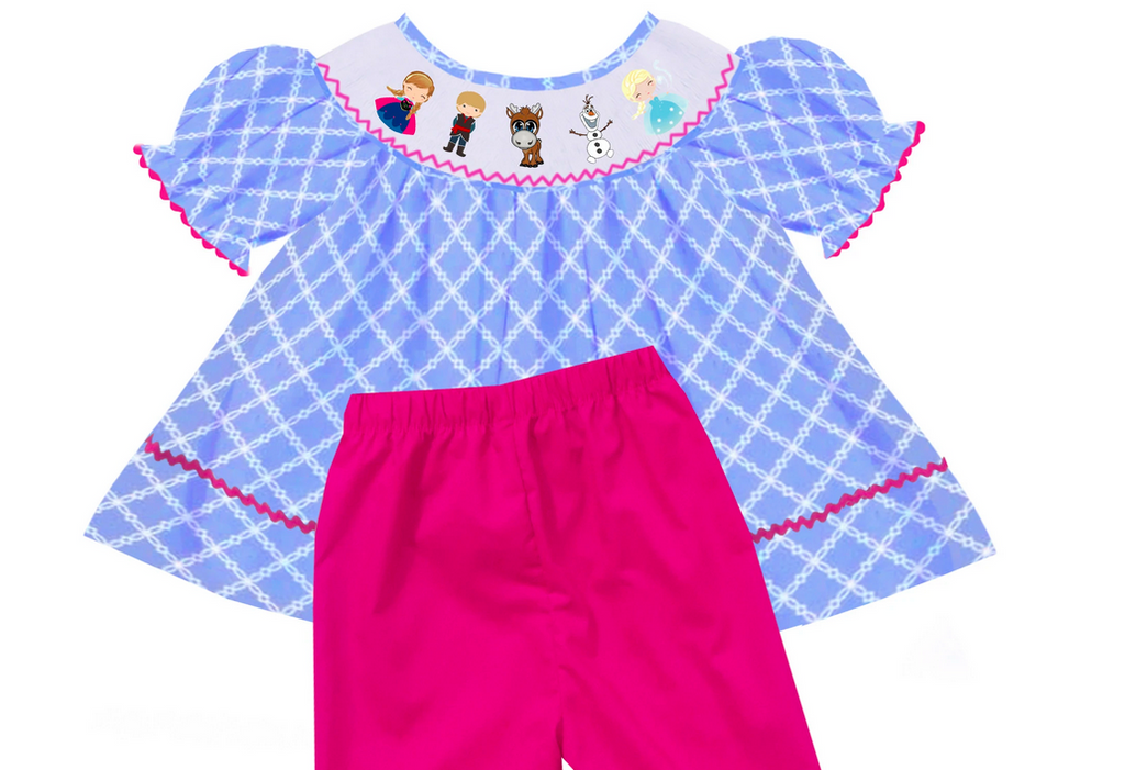 """Ice Princess"" Bishop Style Girls SHORTS Set"