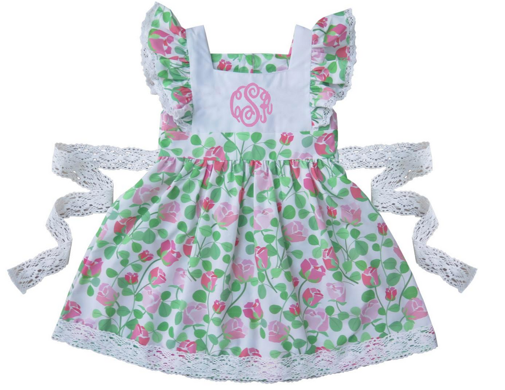 2019 Personalized Floral pinafore