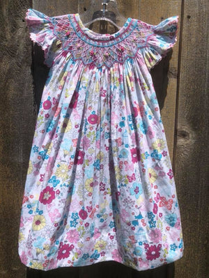 Butterfly Floral Bishop Dress