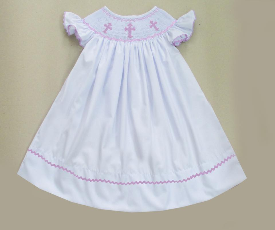 White Cross Bishop Dress