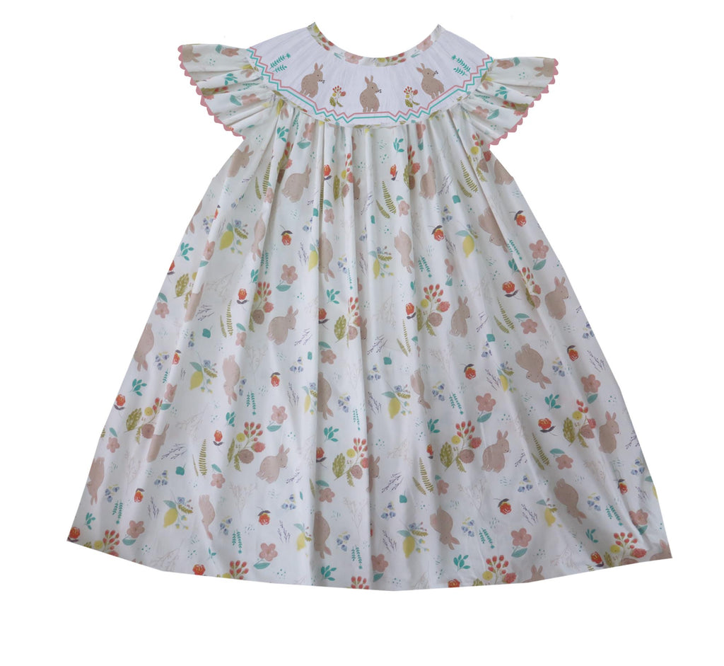 Floral Bunny Bishop Dress