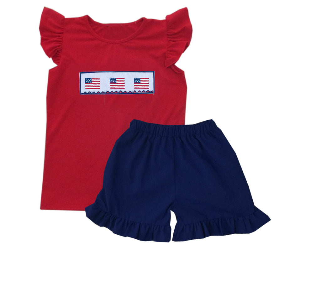 Patriotic Girls Short Set