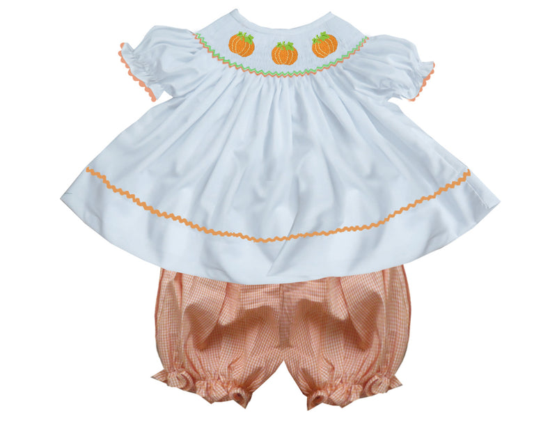 2019 Peach Gingham Pumpkin Bubble Set