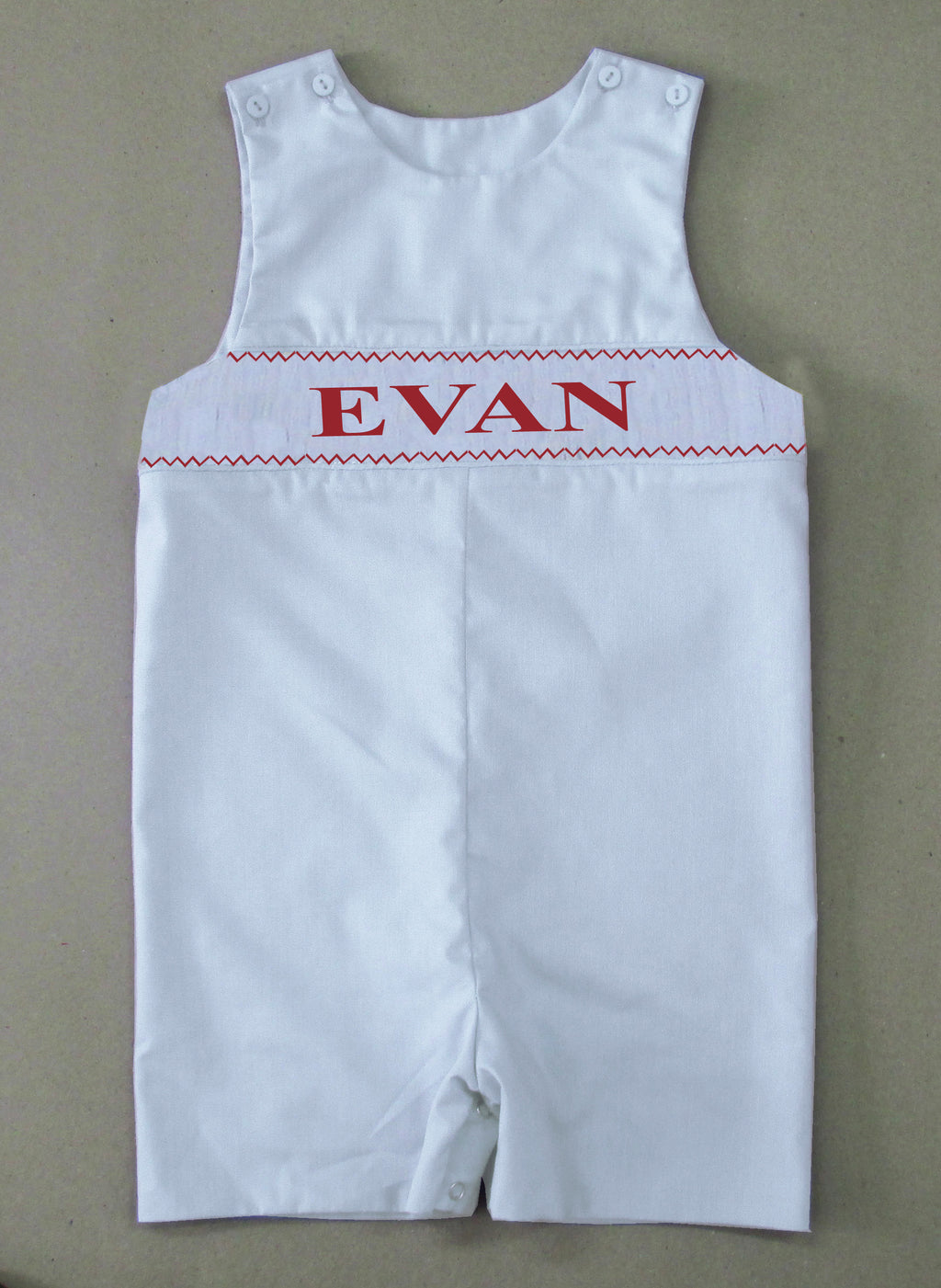 Personalized White Longall