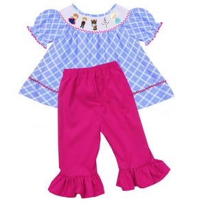 """Ice Princess"" Bishop Style Girls Pants Set"