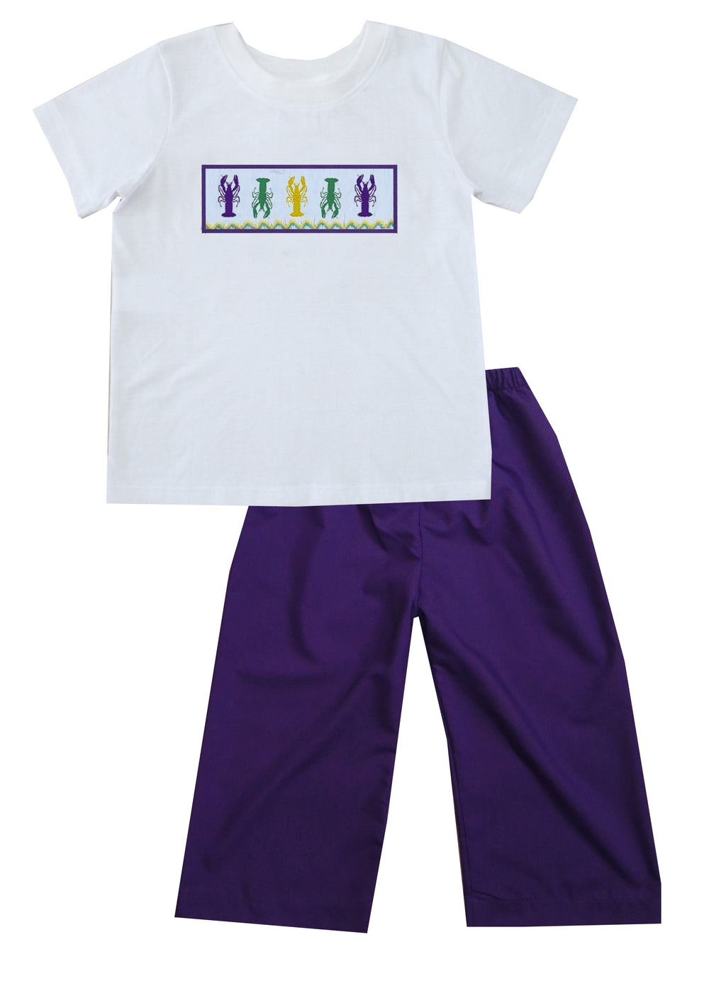 Mardi Gras Crawfish Boys Pants Set